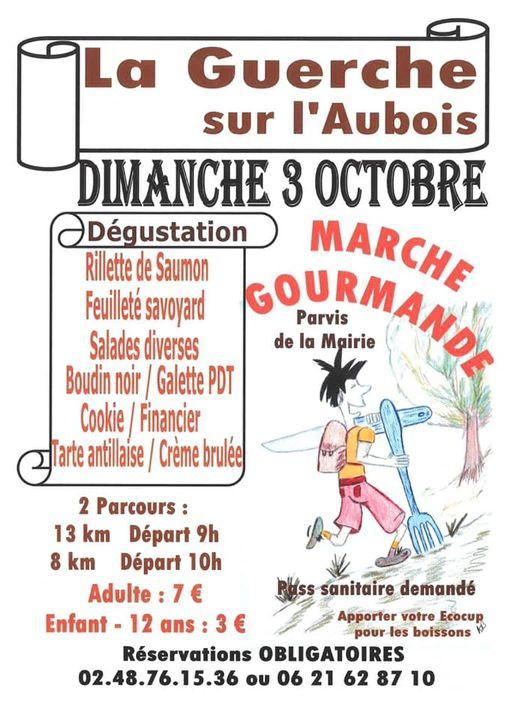 marche gourmande La Guerche sur l'aubois dimanche 3 Octobre